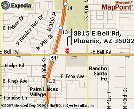 Map: To 40th Street and Bell Office